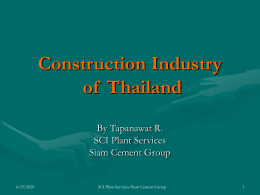 Construction Industry of Thailand 2005