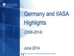 IIASA International Institute for Applied Systems Analysis