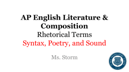 AP English Literature & Composition Rhetorical Terms