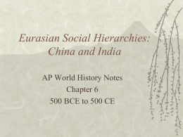 Eurasian Social Hierarchies: China and India