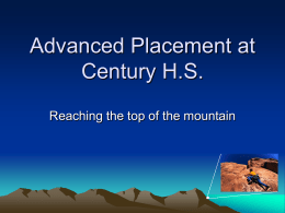 Advanced Placement at Century H.S.