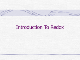 Introduction To Redox