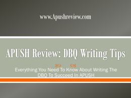 DBQ Writing Tips - APUSHReview.com