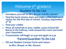 Welcome 5th graders! - Wayzata Public Schools