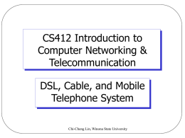 CS412 Computer Networks - Computer Science | Winona State