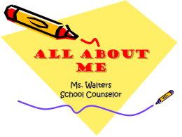 All About Me - Montgomery County (VA) Public Schools