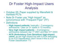 Dr Foster High-Impact Users Methodology