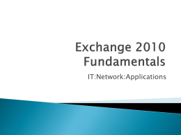 Exchange - Network.nwtc.edu