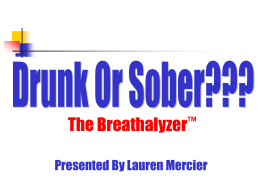 The Chemistry Behind the Breathalyzer
