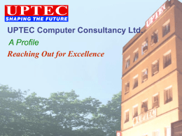 UPTEC - This site has been created for the testing of some on