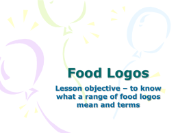 Food Logos - Health & Social Care & D&T Teaching Resource