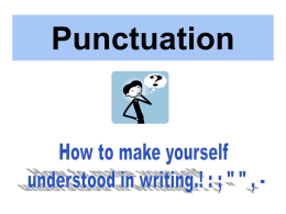 Punctuation - Teaching English Today