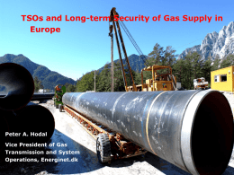 TSO's and long-term security of gas supply in Europe