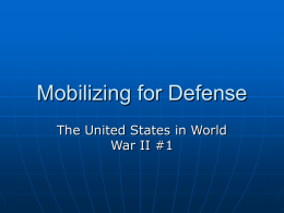 Mobilizing for Defense - Santa Ana Unified School District
