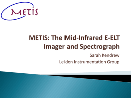 METIS: The Mid-Infrared E-ELT Imager and Spectrograph