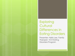 Exploring Cultural Differences in Eating Disorders