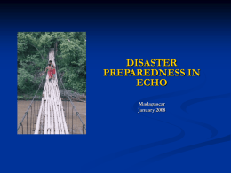 ECHO - HUMANITARIAN AID EUROPEAN COMMISSION