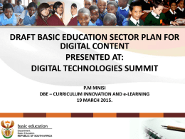 Progress on the implementation of ICT in Education in