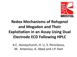Redox mechanisms of Rohypnol and Mogadon and their