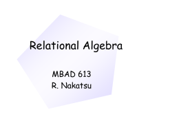Chapter 8: Foundations of Relational Implementation