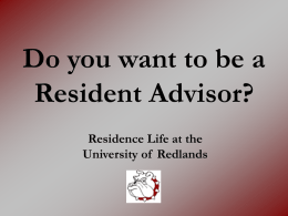 Could You Be A Resident Assistant?