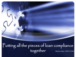 Putting all the pieces of loan compliance together