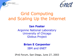 IBM and GRID Computing