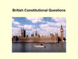 British Constitutional Questions