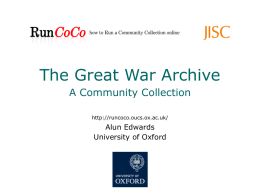 The role of digital archives in teaching and learning The