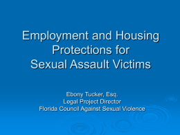Employment and Housing101: - Florida Council Against