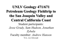 UNLV Geology 471/671 Petroleum Geology Fieldtrip to the