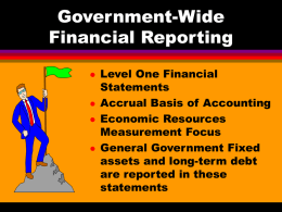 Government-Wide Financial Reporting