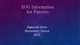 EOG Information for Parents