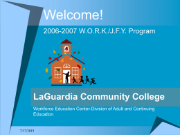 Welcome! [www.lagcc.cuny.edu]