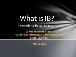 """What is IB?"" Presentation"