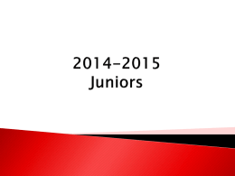 2014-2015 Juniors - DuBois Area School District