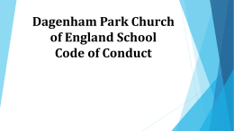 Dagenham Park School Code of Conduct
