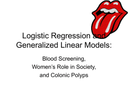 Logistic Regression and Generalized Linear Models: