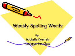 Weekly Spelling Words - University of South Carolina Aiken