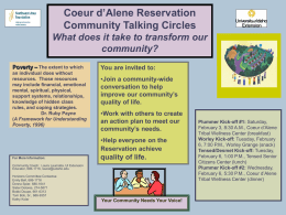 Coeur d'Alene Reservation Study Circles flyer