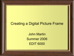 Creating a Digital Picture Frame
