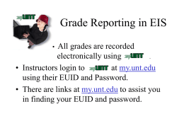 Grade Reporting in EIS