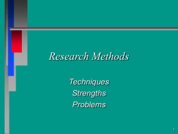 Research Methods - Southeast Missouri State University