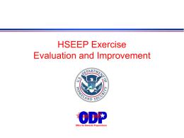 EXERCISE EVALUATOR COURSE