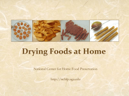 Drying Foods - Food preservation
