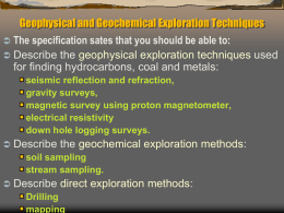 Geophysical and Geochemical Exploration Techniques