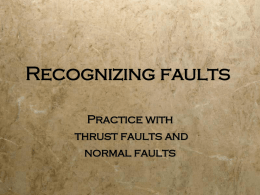 Recognizing faults - Gallaudet University