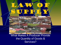 Law of Supply - Hudson Falls Middle School