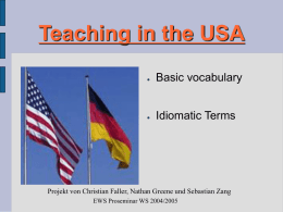 Teaching in the USA - uni