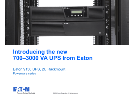 Eaton 9130 RM UPS Quick Introductory Presentation